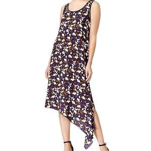 Anne Klein Dress Floral Asymmetric Tank Top New